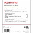 Beef-sausage (Rinder-Bratwurst) 100g (1 Piece)